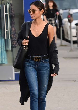 Jamie Chung in Skinny Jeans out in West Hollywood