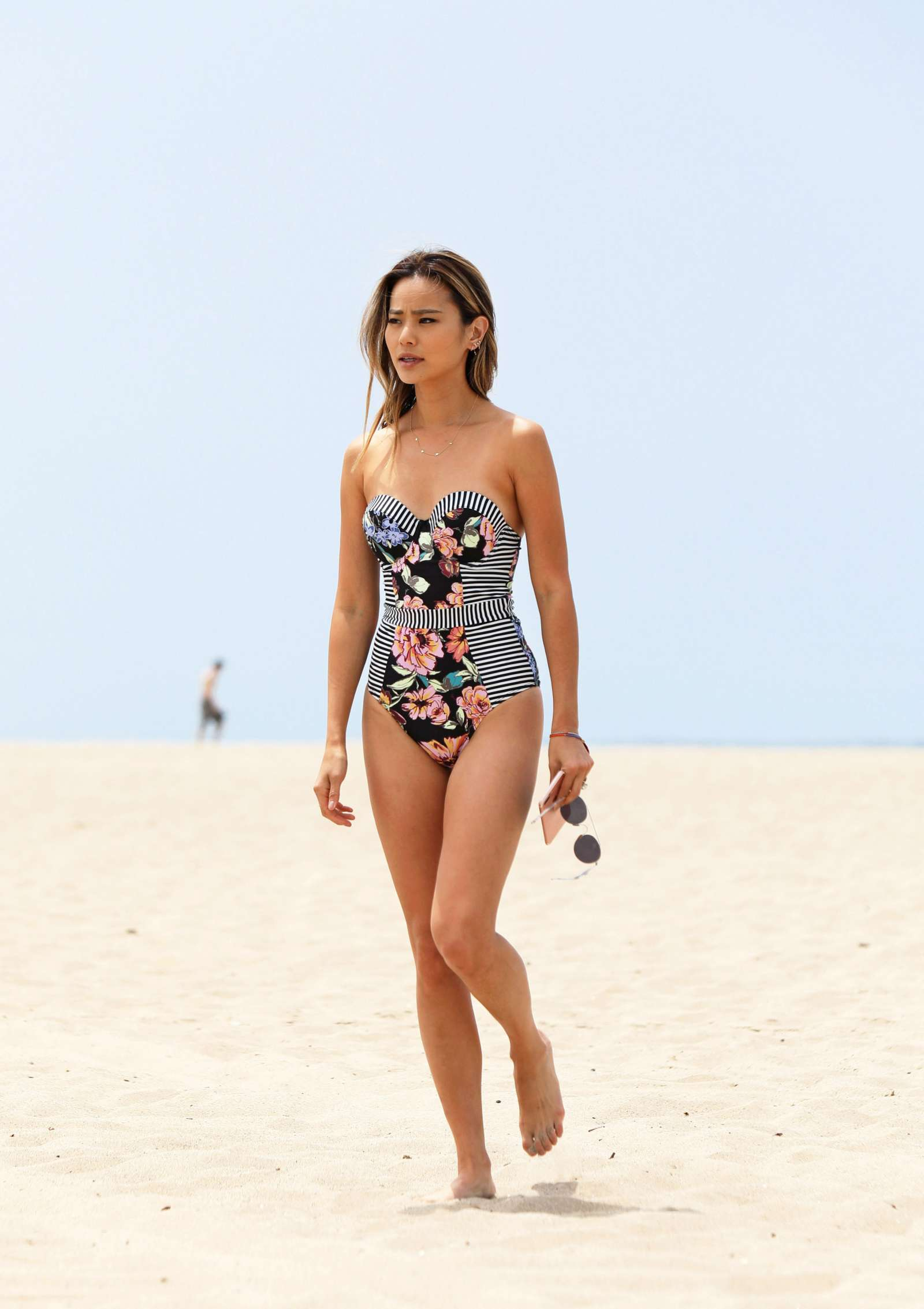 Jamie Chung in Swimsuit at the beach in Miami