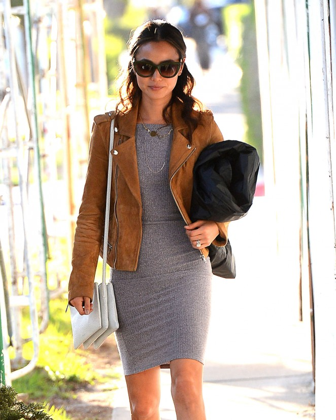 Jamie Chung - Leaves a Cafe in West Hollywood