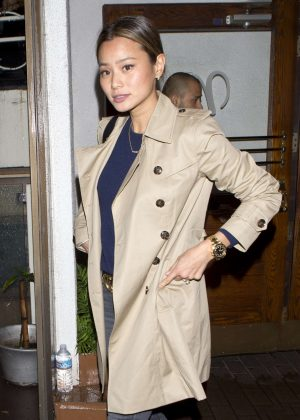 Jamie Chung - Leaving 'Madeo' Italian Restaurant in West Hollywood