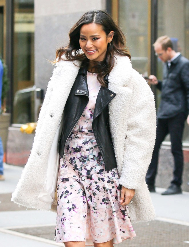 Jamie Chung Leaving the NBC Studio in New York City