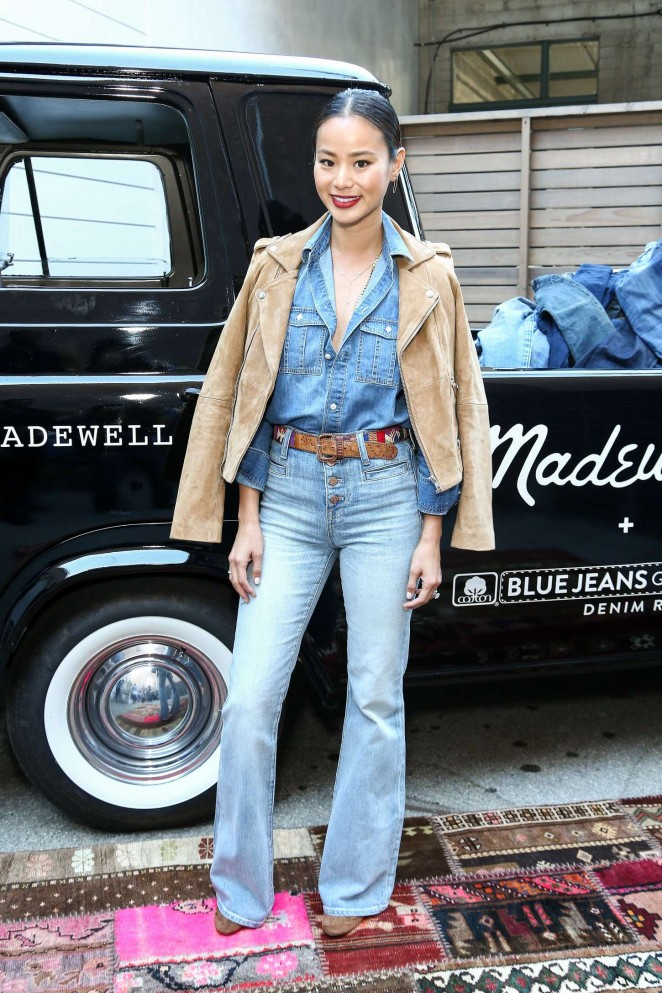 Jamie Chung - Madewell Denim Recycling Drive in Beverly Hills