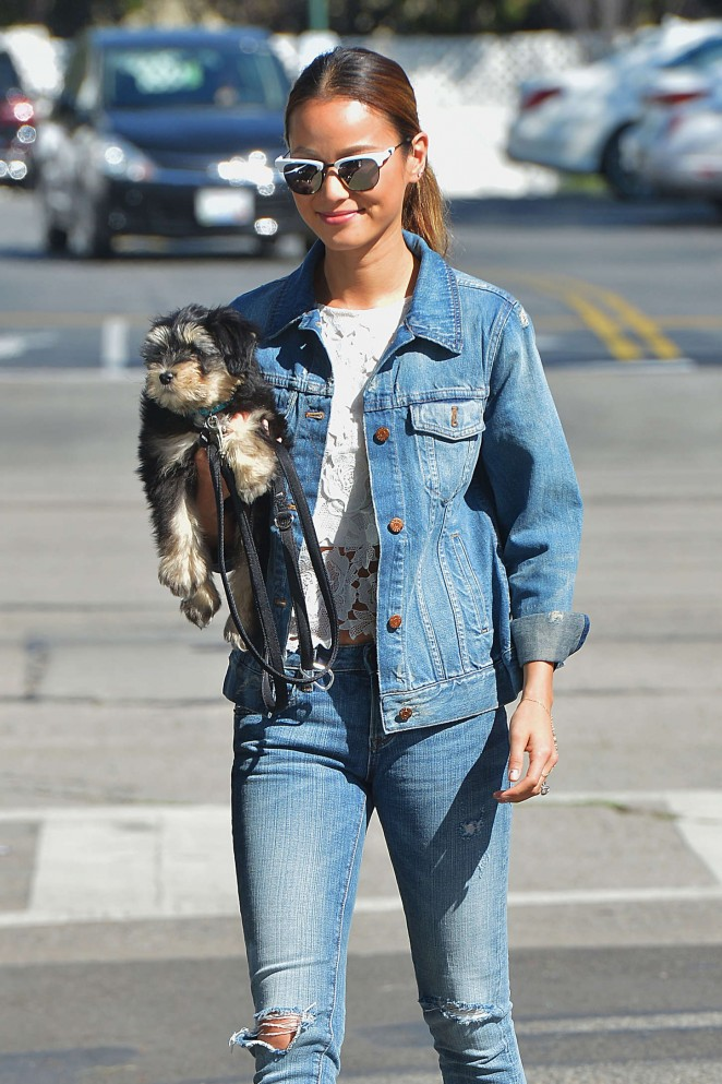 Jamie Chung in Jeans Out in Los Angeles