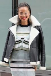 Jamie Chung - Possing outside during New York Fashion Week 2020