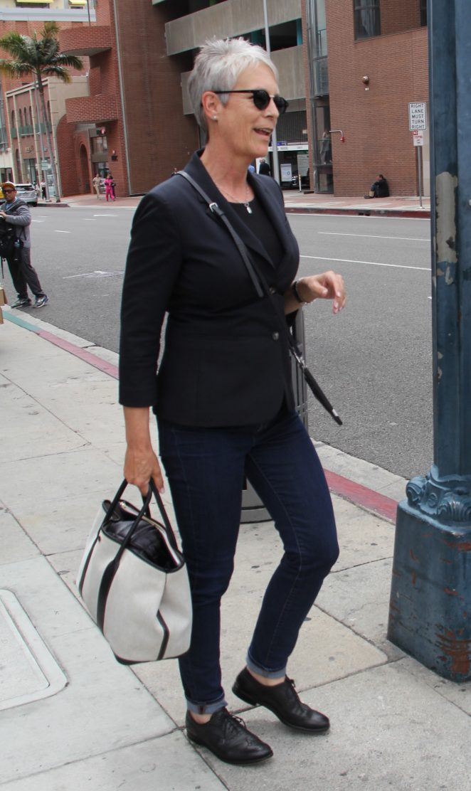 Jamie Lee Curtis out shopping in Beverly Hills