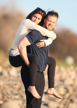 Jamie Lynn Sigler and Cutter Dykstra on their honeymoon in Santa Barbara
