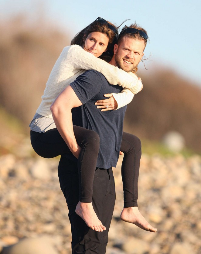 Jamie Lynn Sigler and Cutter Dykstra on their honeymoon in Santa Barbara