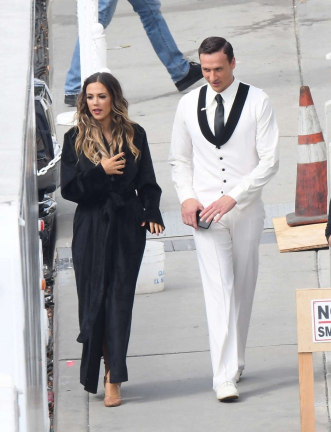 Jana Kramer - Filming 'Dancing with the Stars' in Los Angeles