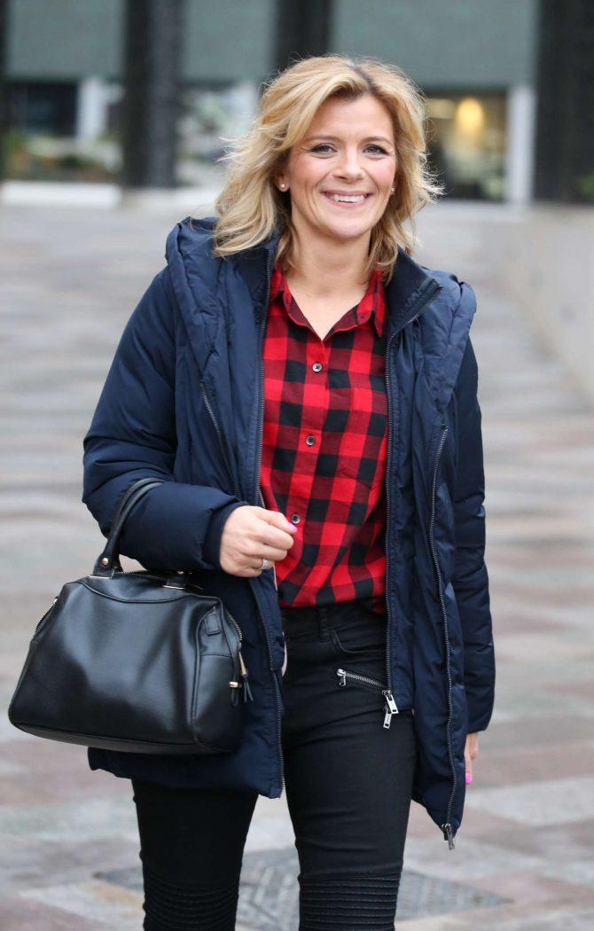 Jane Danson - Outside ITV Studios in London