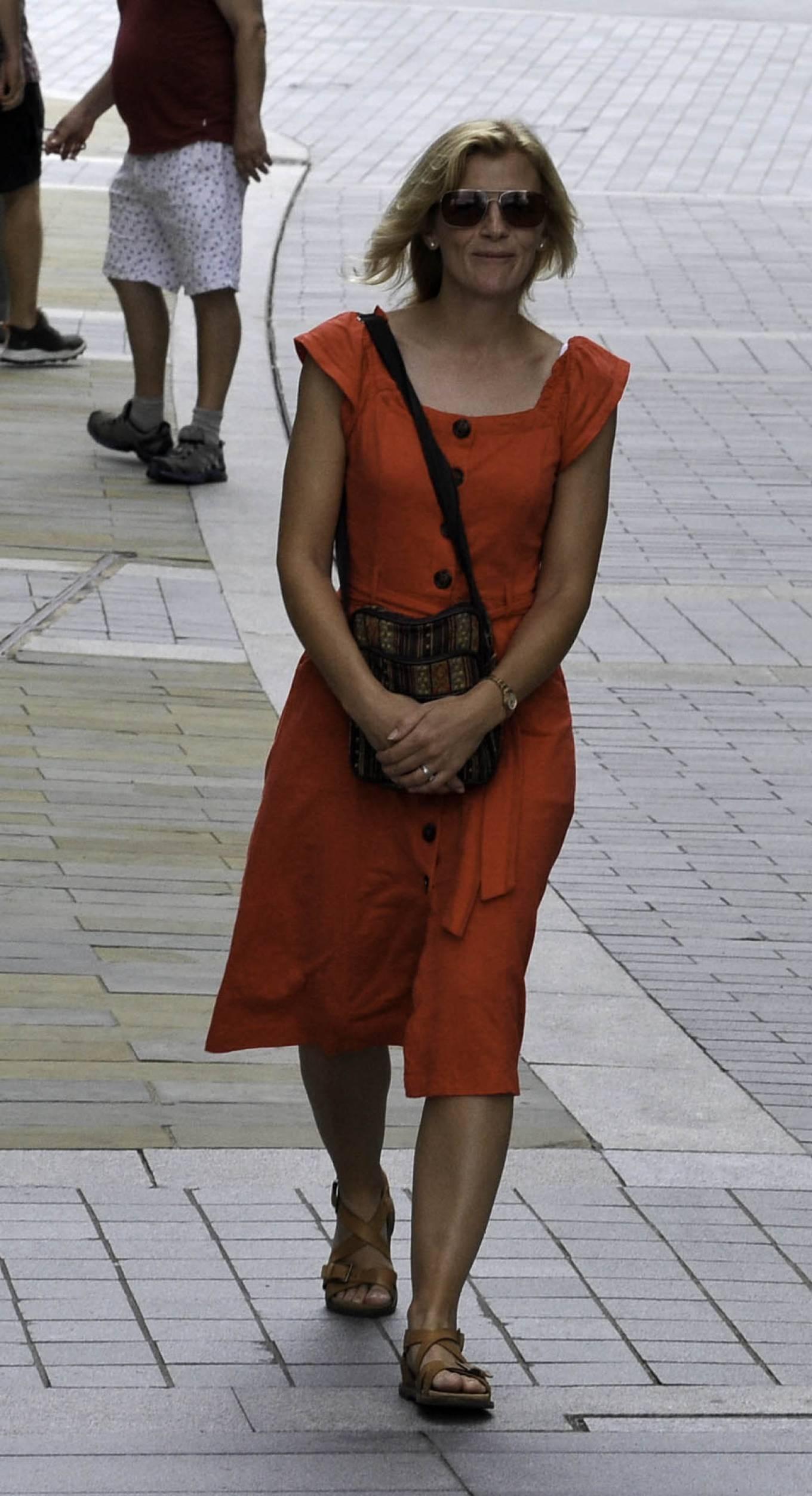 Jane Danson - Seen on Mediacity in Salford Quays Manchester