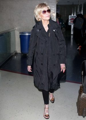 Jane Fonda - Arriving at LAX Airport in Los Angeles