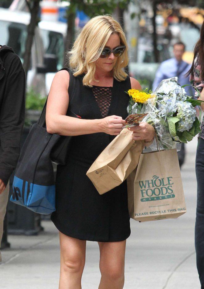 Jane Krakowski in Black Mini Dress Shopping in NYC