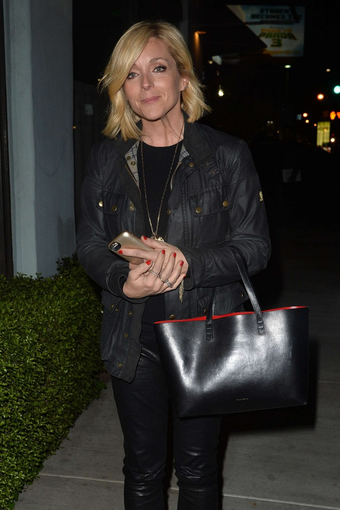 Jane Krakowski Leaves an LA Film Critics Party in Hollywood