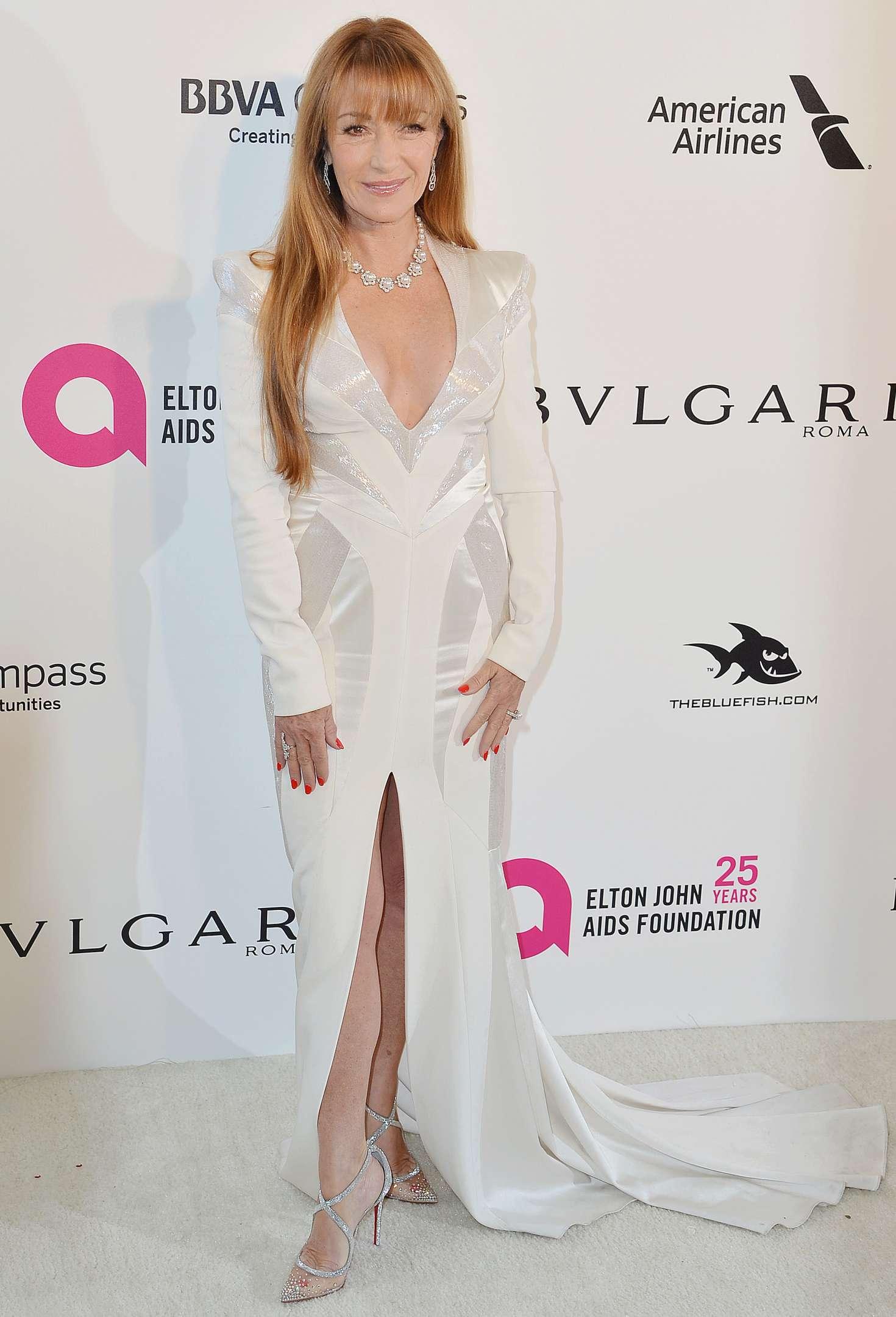 Jane Seymour 2018 : Jane Seymour: 2018 Elton John AIDS Foundations Oscar Viewing Party -03