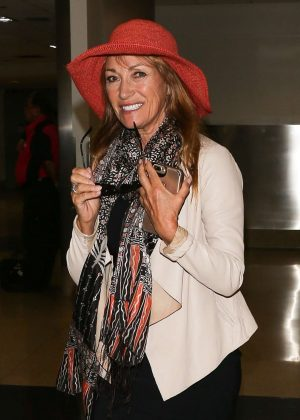 Jane Seymour - Arriving at LAX Airport in Los Angeles