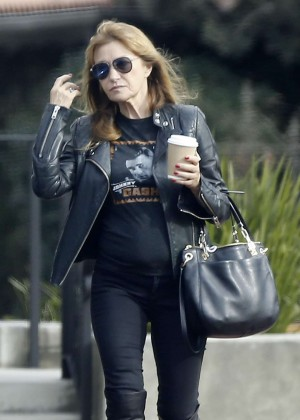 Jane Seymour at local coffee place in Malibu