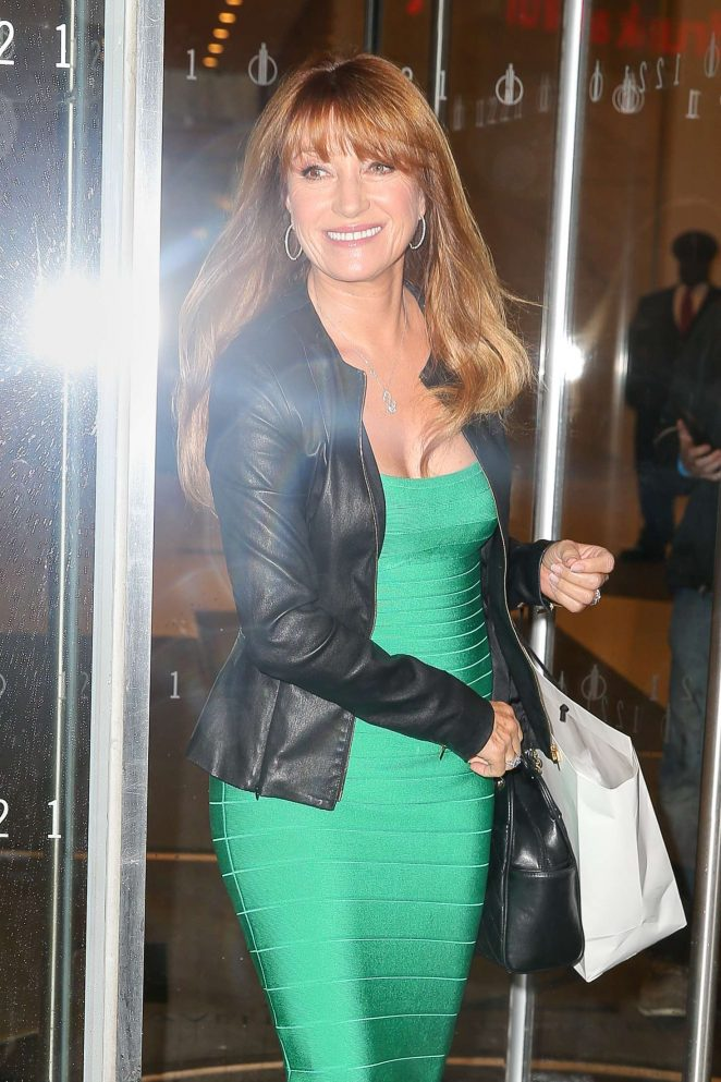 Jane Seymour Leaving SiriusXM radio studios in New York