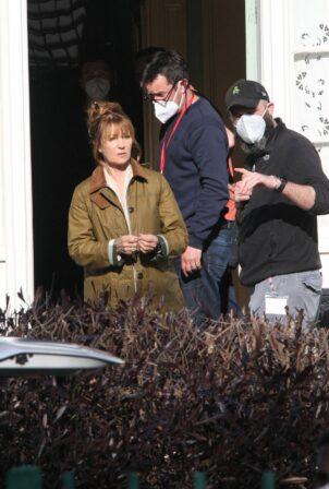 Jane Seymour - on set for 'Harry Wild' in Wicklow