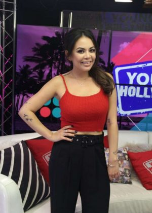 Janel Parrish at Young Hollywood Studio