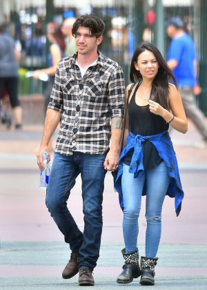 Janel Parrish - Disneyland in Anaheim