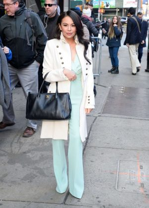 Janel Parrish - Outside Good Morning America in NYC