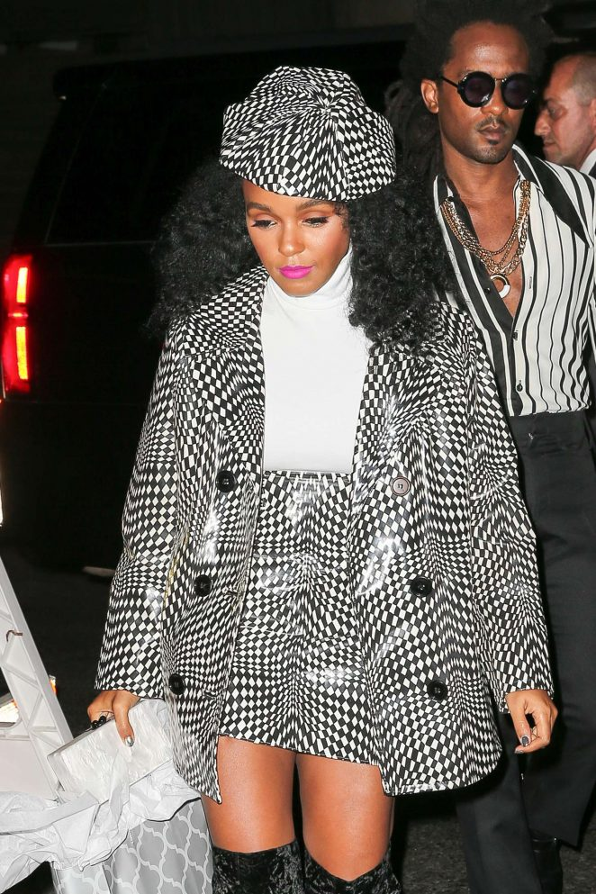 Janelle Monae - Arrives at Beyonce's Birthday Party in New York