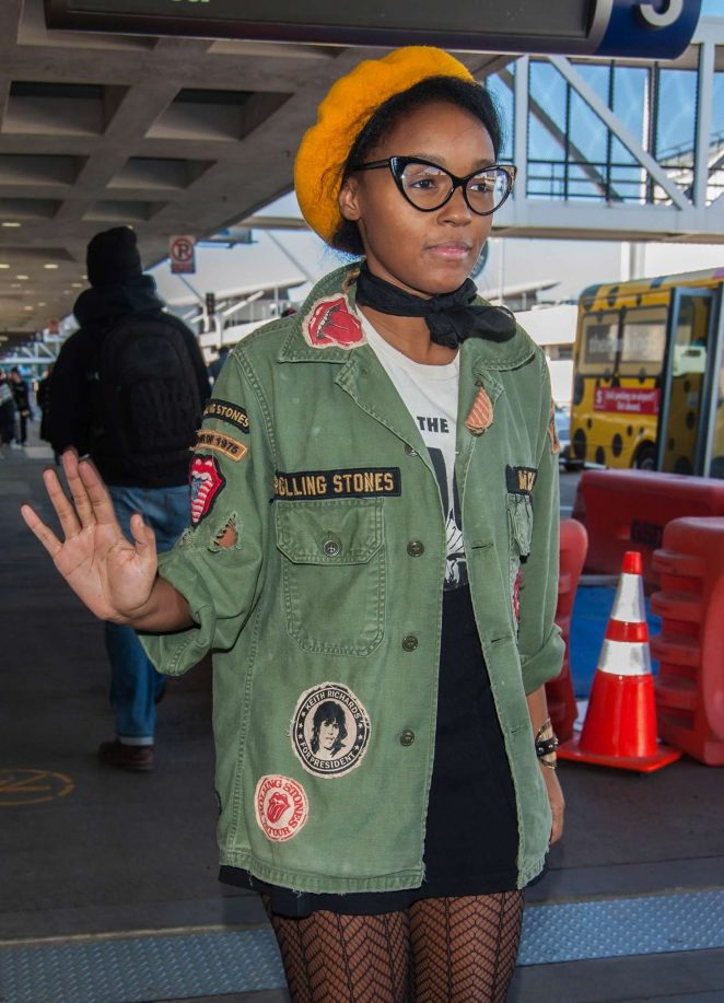 Janelle Monae - Arrives at LAX Airport in LA