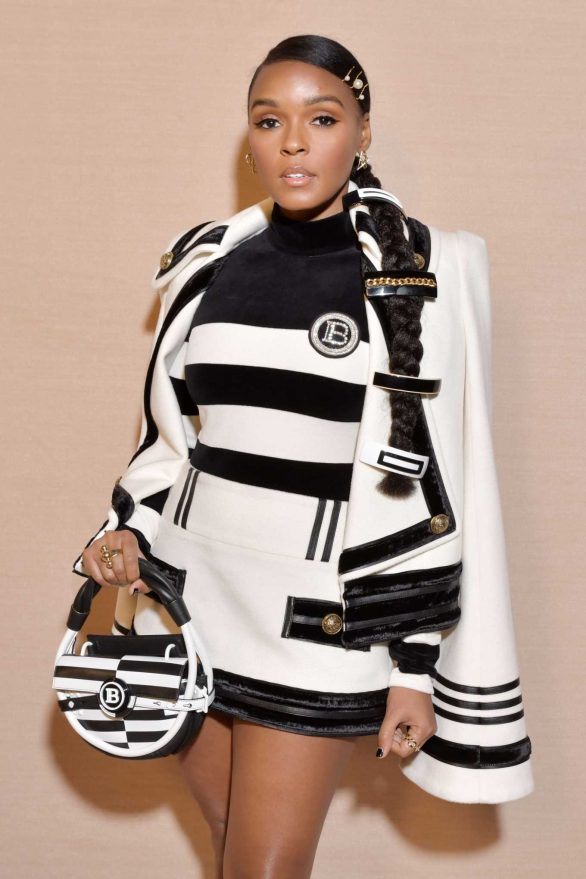 Janelle Monae - Balmain Fashion Show at Paris Fashion Week 2020