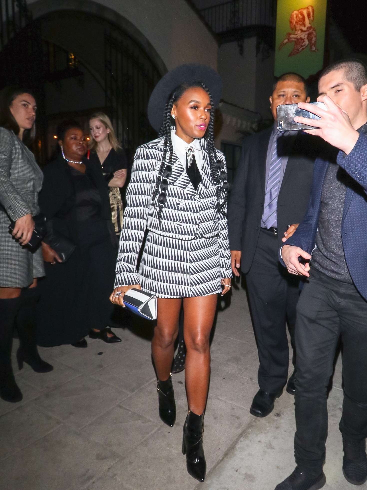 Janelle Monae - Outside The Hearth & Hound Restaurant in Hollywood