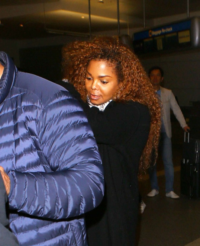 Janet Jackson with her bodyguard out in Los Angeles