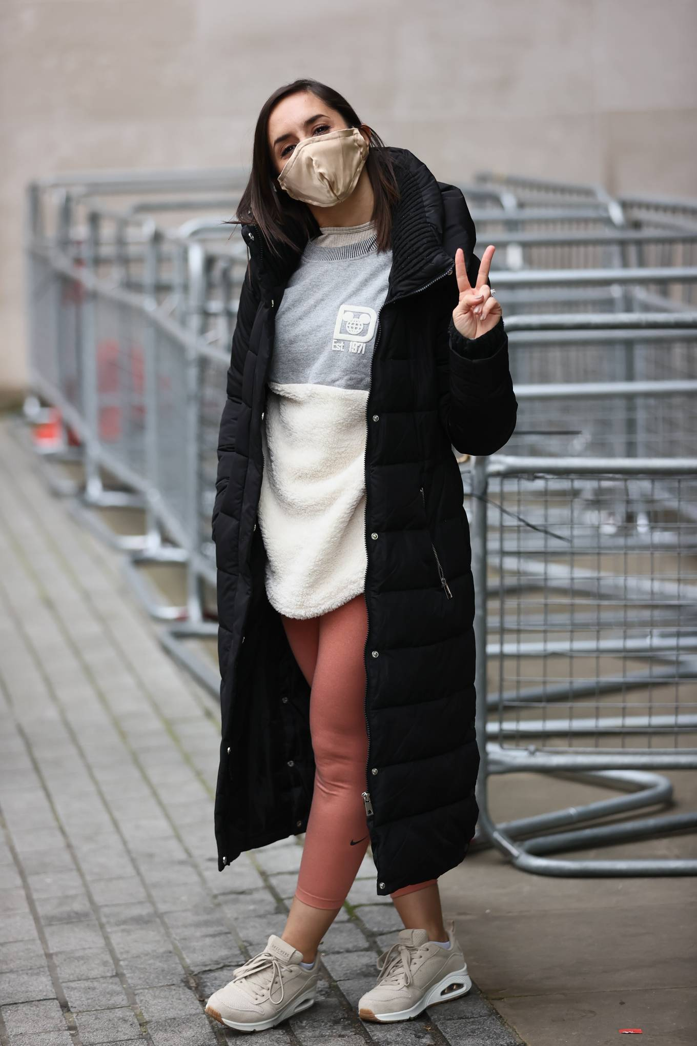 Janette Manrara - In pink leggings seen after BBC's Morning Live TV show in London