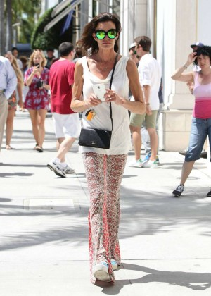 Janice Dickinson Out and about in Beverly Hills