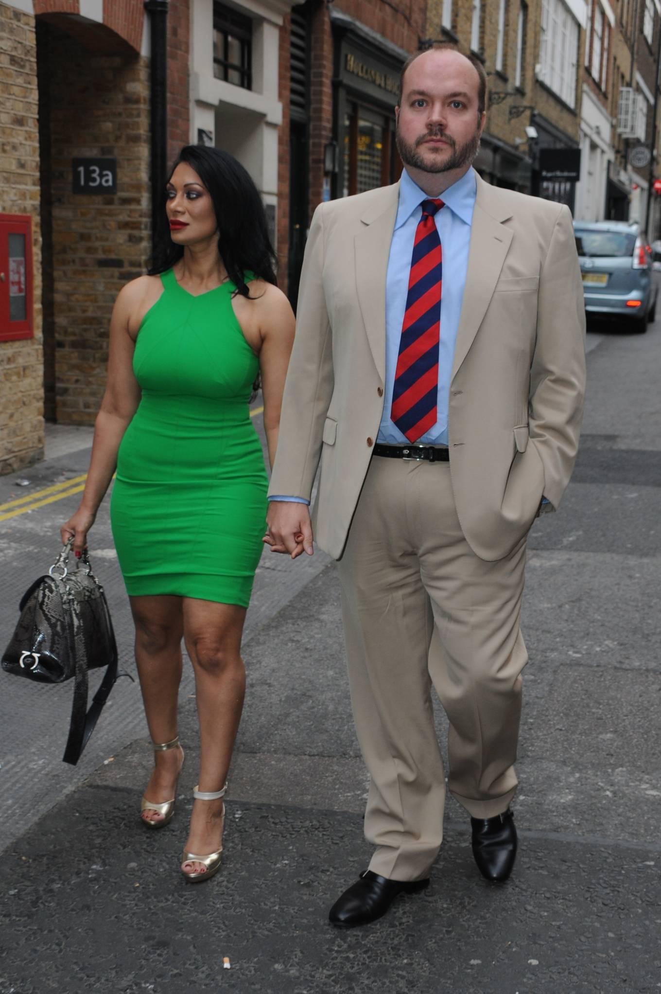 Janine Nerissa 2021 : Janine Nerissa – In green dress out for dinner at Bellamys in London-01