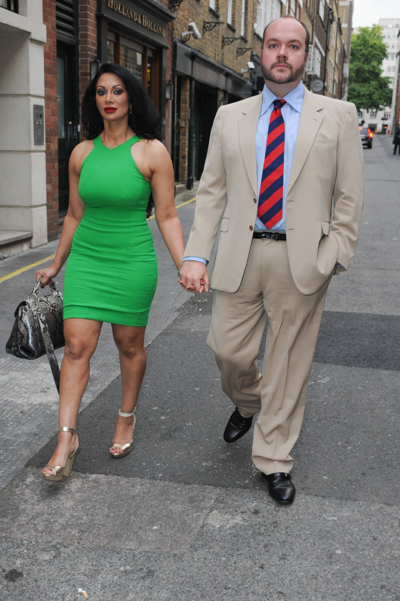 Janine Nerissa 2021 : Janine Nerissa – In green dress out for dinner at Bellamys in London-05