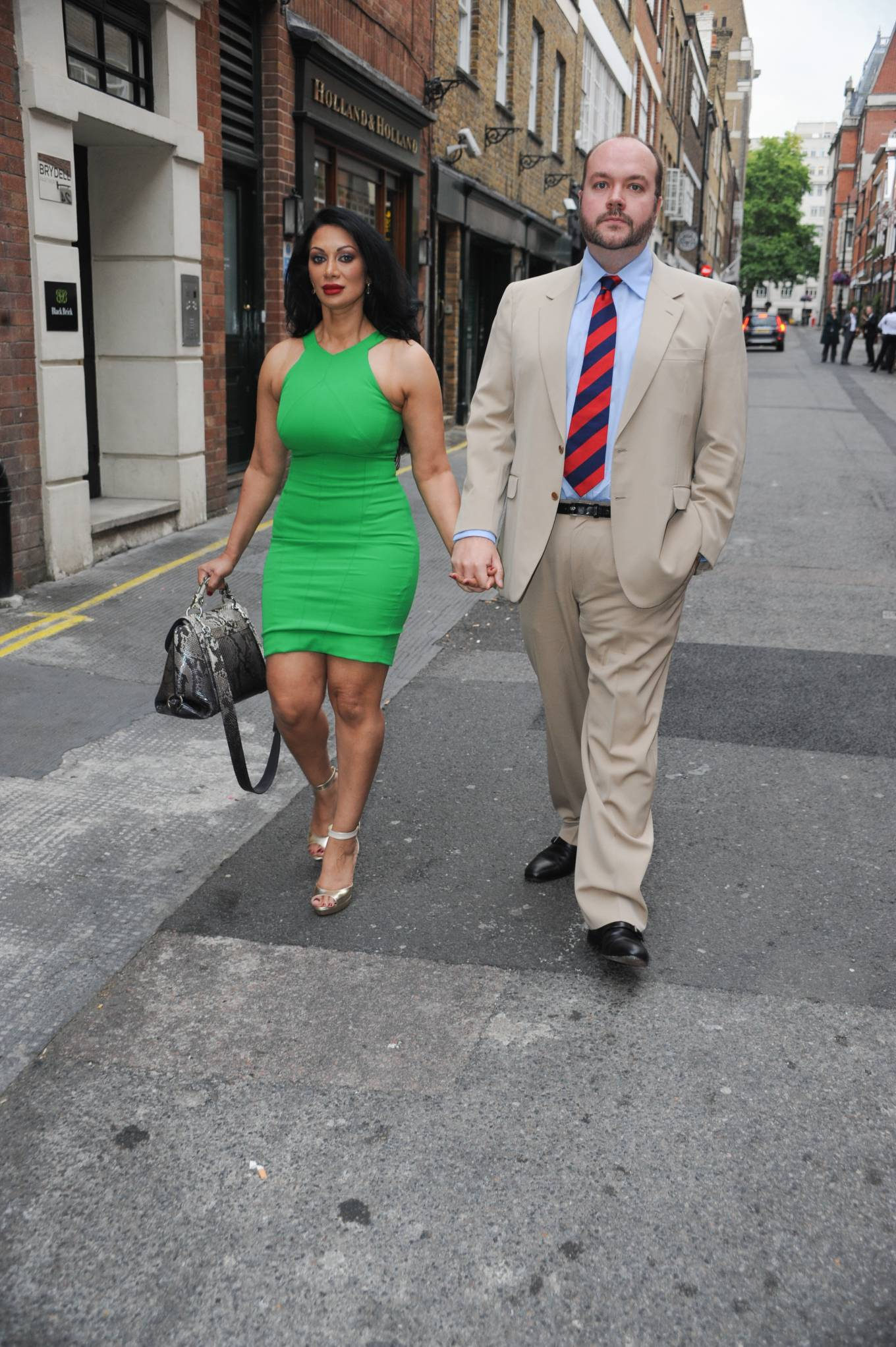 Janine Nerissa 2021 : Janine Nerissa – In green dress out for dinner at Bellamys in London-06