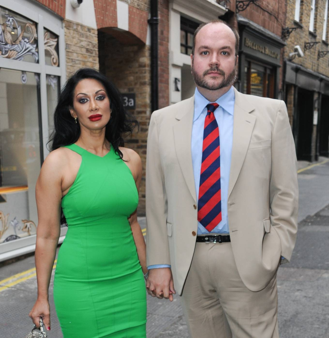 Janine Nerissa 2021 : Janine Nerissa – In green dress out for dinner at Bellamys in London-09