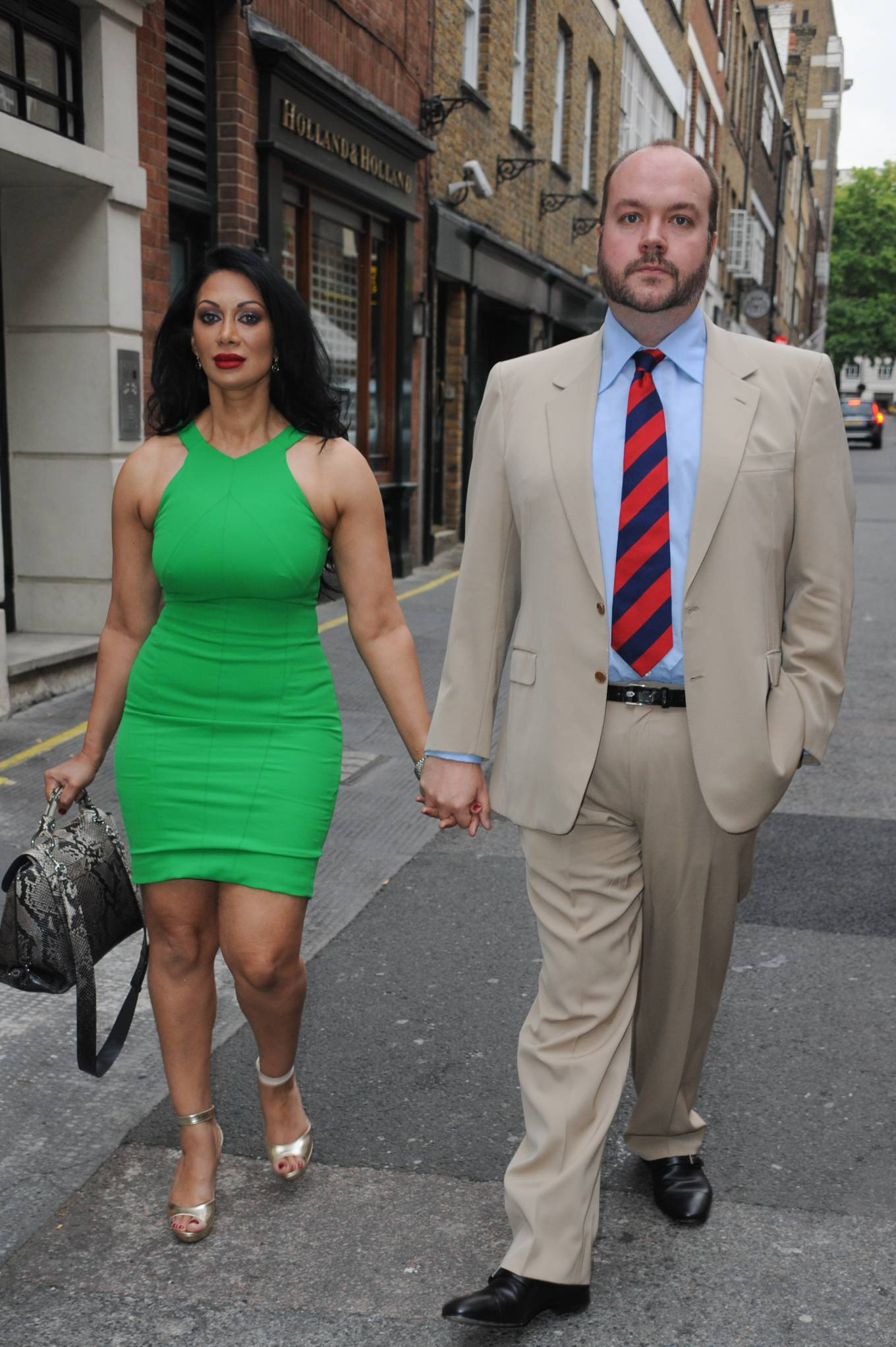 Janine Nerissa 2021 : Janine Nerissa – In green dress out for dinner at Bellamys in London-11