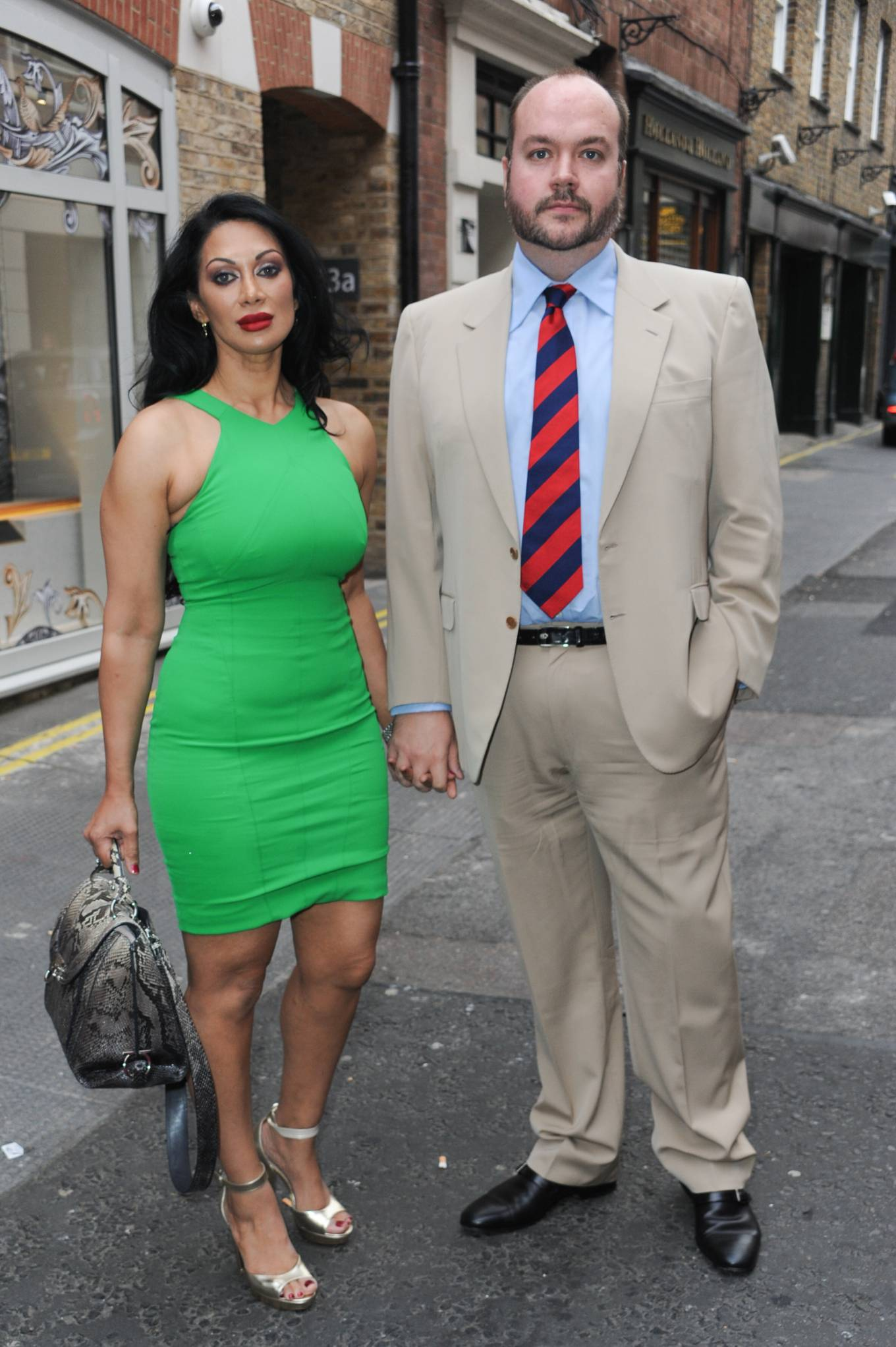 Janine Nerissa 2021 : Janine Nerissa – In green dress out for dinner at Bellamys in London-12