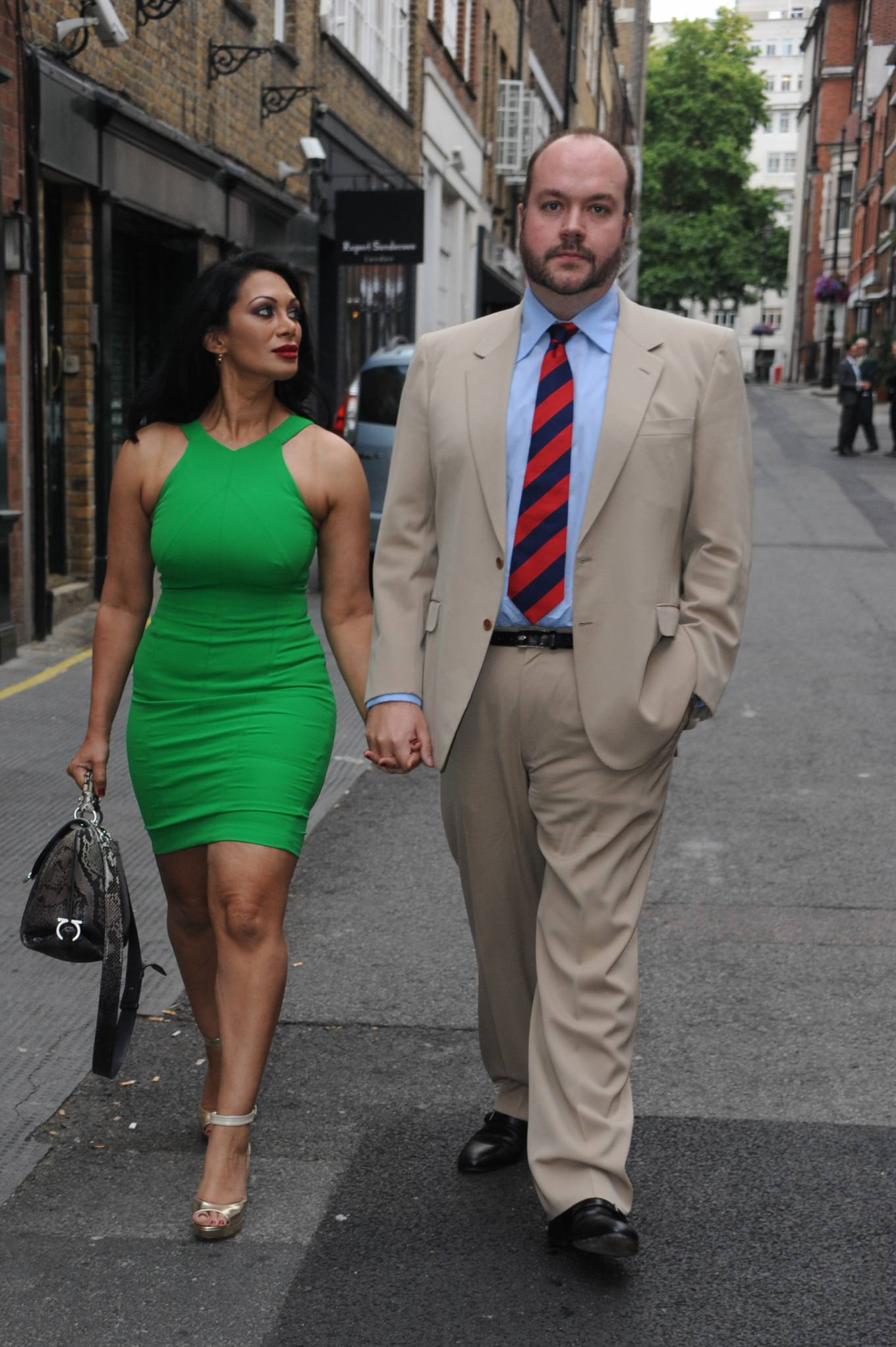 Janine Nerissa 2021 : Janine Nerissa – In green dress out for dinner at Bellamys in London-13
