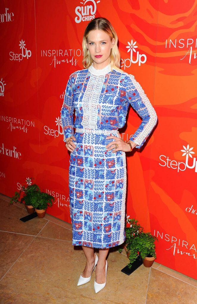January Jones - 13th Annual Inspiration Awards to Benefit STEP UP in Beverly Hills