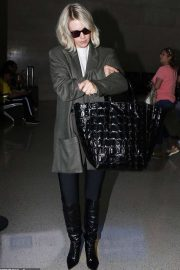January Jones - Arrives at LAX airport in Los Angeles