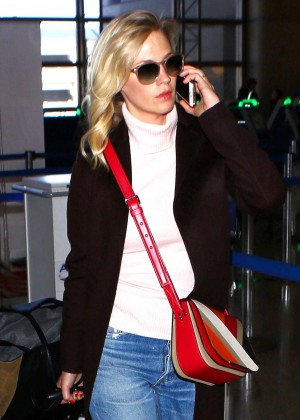January Jones at LAX Airport in Los Angeles