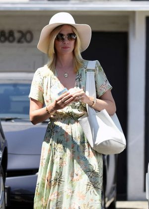 January Jones at meche salon in Los Angeles