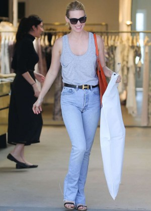 January Jones in Jeans out in West Hollywood