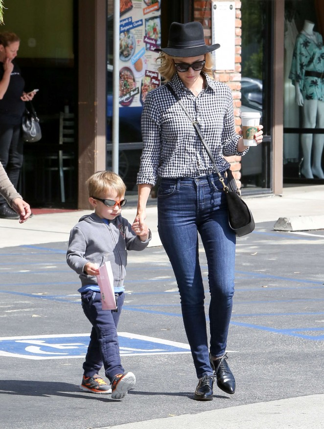 January Jones in Tight Jeans out in LA