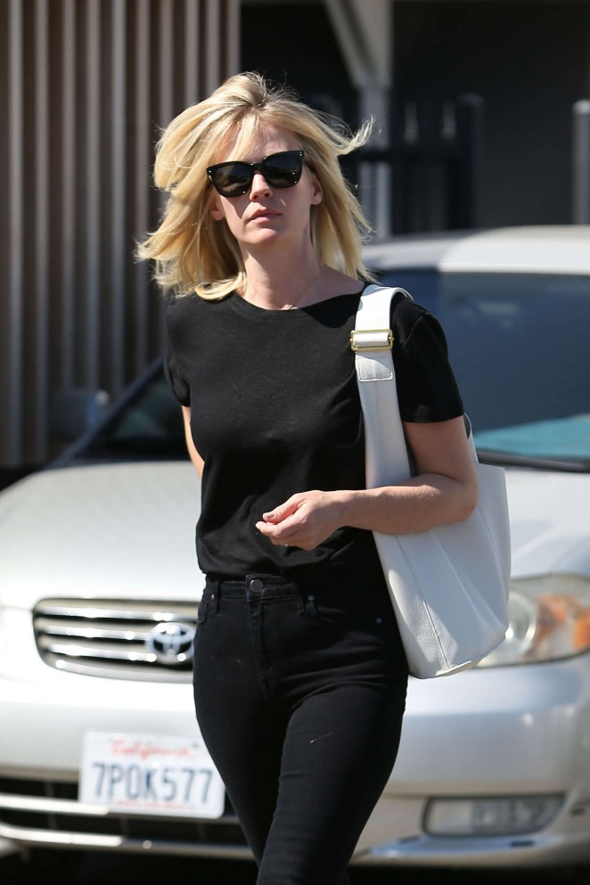 January Jones - Leaving the salon in Beverly Hills