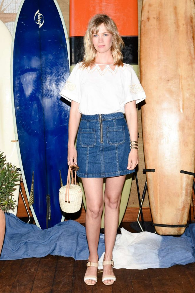 January Jones - Madewell and the Surfrider Foundation Collaboration Launch in Malibu