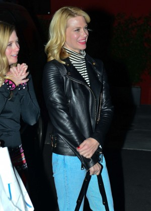 January Jones in Jeans - Night Out in LA