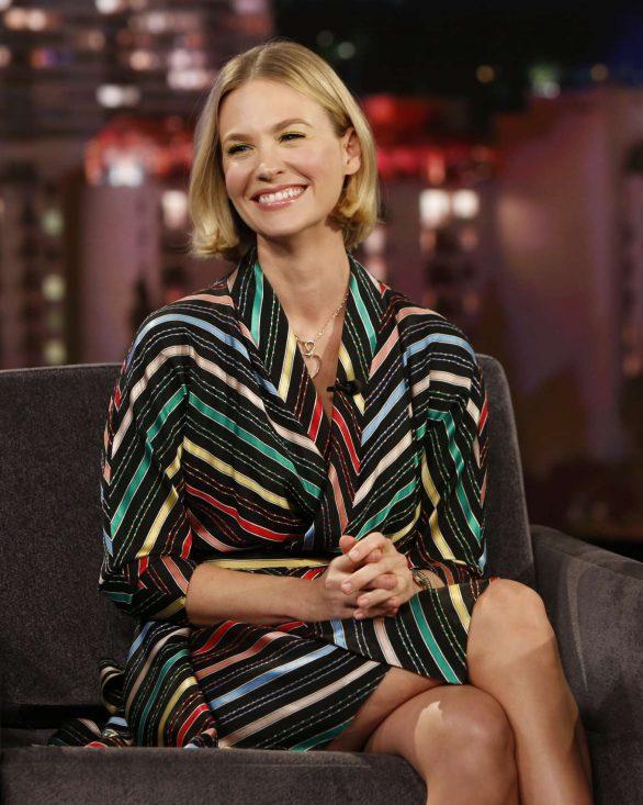 January Jones - On Jimmy Kimmel Live! in Hollywood