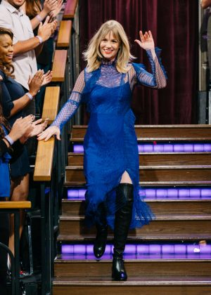January Jones on 'The Late Late Show with James Corden' in LA